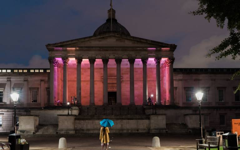 UCL's Portico, credit James Tye Photography