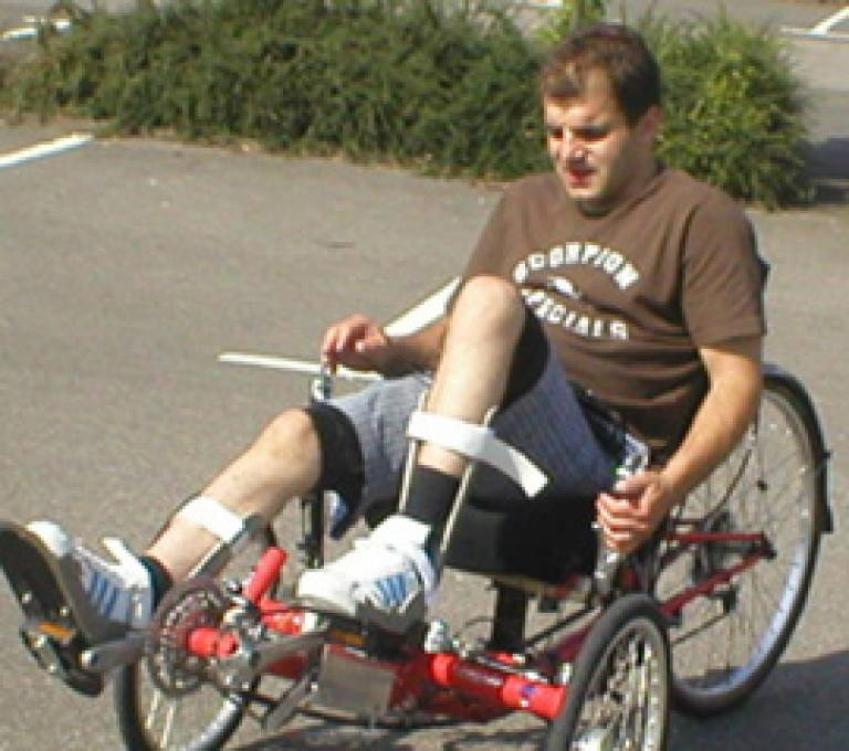 The recumbent tricycle in action