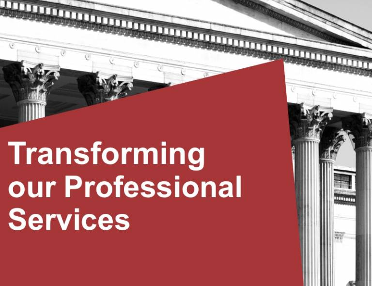 Transforming our Professional Services