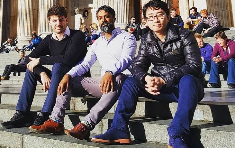Left to right:  Dr Michail Basios, Dr Leslie Kanthan, Assoc. Prof Lingbo Li.