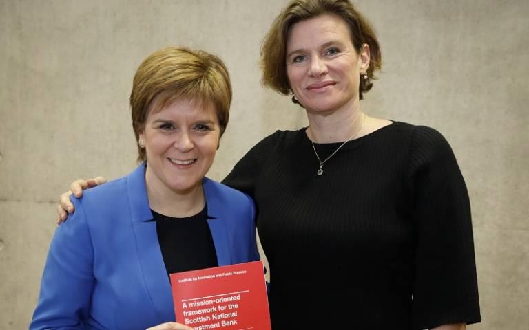 Professor Mariana Mazzucato with Scotland First Minister Nicola Sturgeon