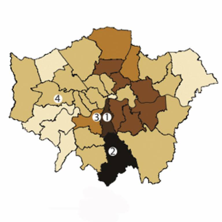 Riot map of London