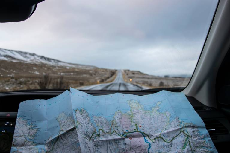 Road trip map view
