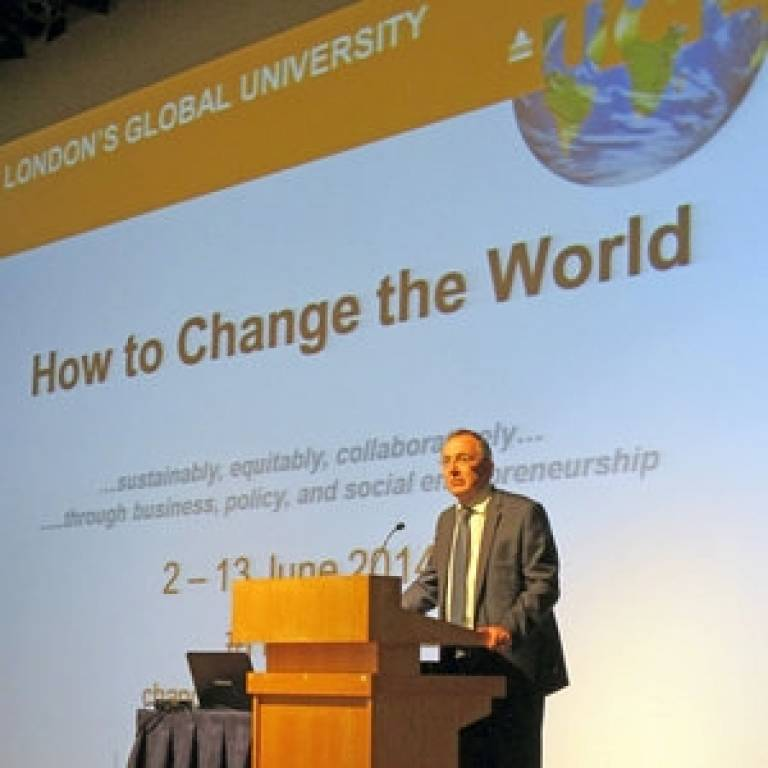 Professor Michael Arthur - How to Change the World programme launched by UCL Engineering