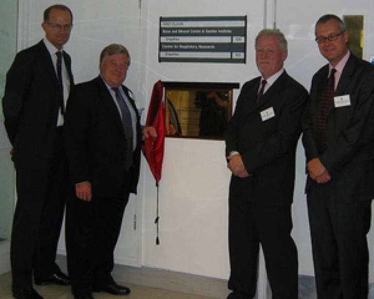 Mr Justin Cobb, Mr Raymond Smith, Professor Michael Horton and Professor Patrick Vallance