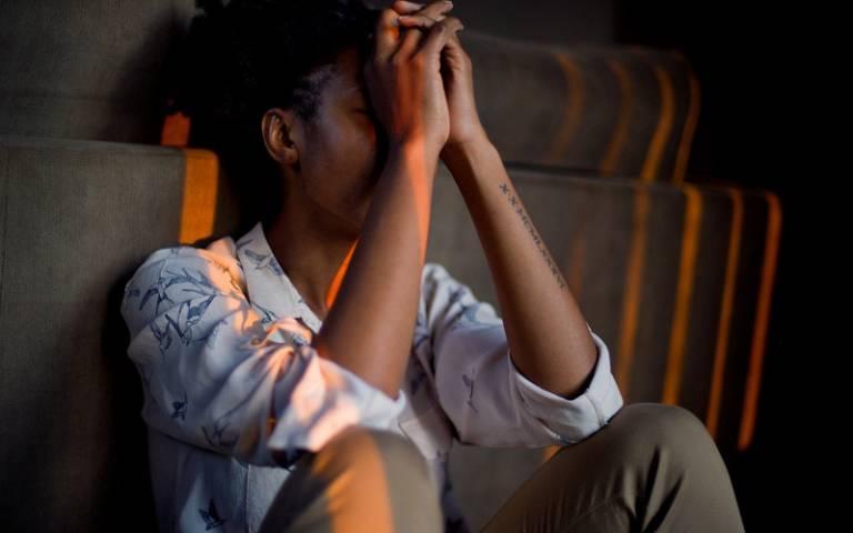 People emotional sad woman