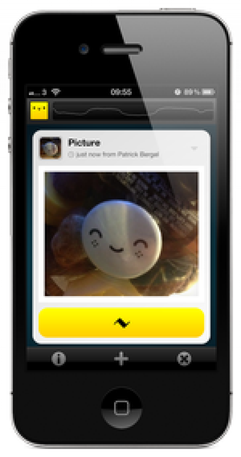 A screenshot of Chirp being used on an iPhone
