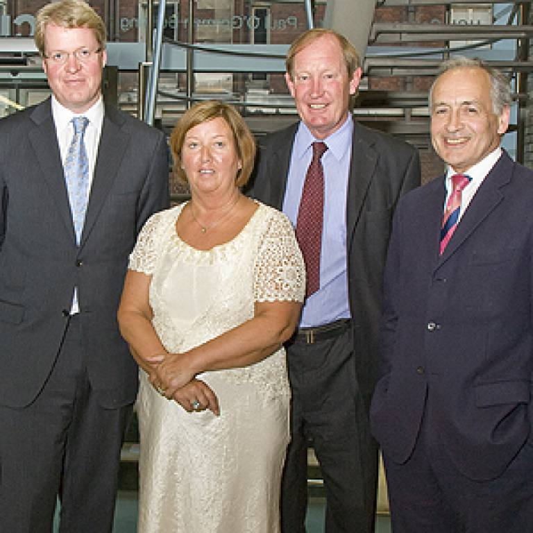 Neil and Angela Dickson with Lord Spencer and Alastair Stewart