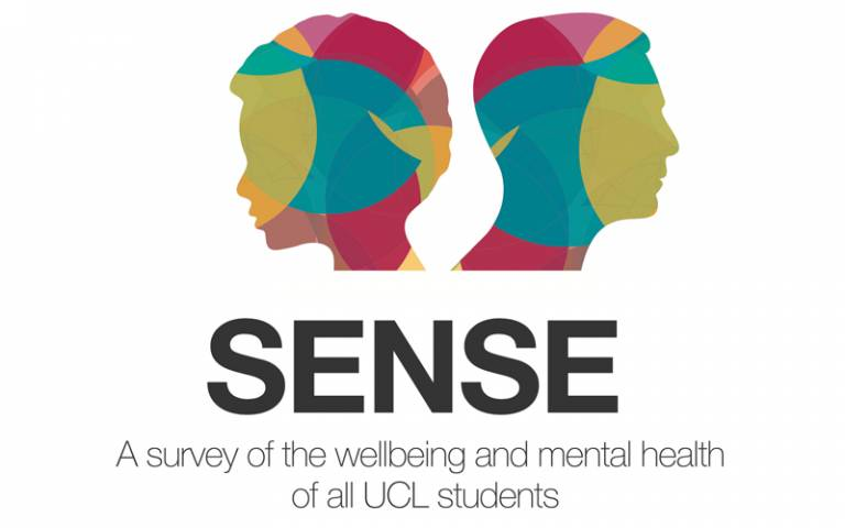 Logo for the SENSE survey of UCL students' wellbeing and mental health