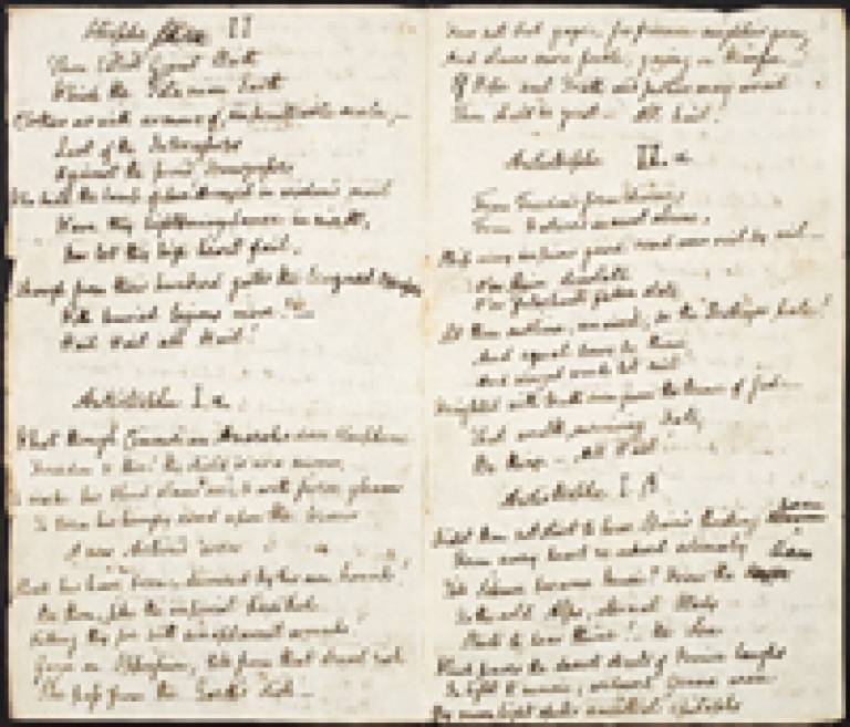 manuscript in the hand of Shelley's alleged lover