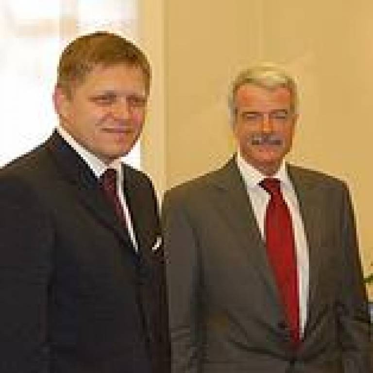 The Slovak Prime Minister with UCL President and Provost