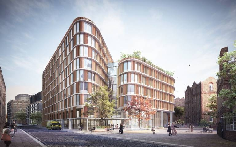 south view of proposed new eye care centre at St Pancras