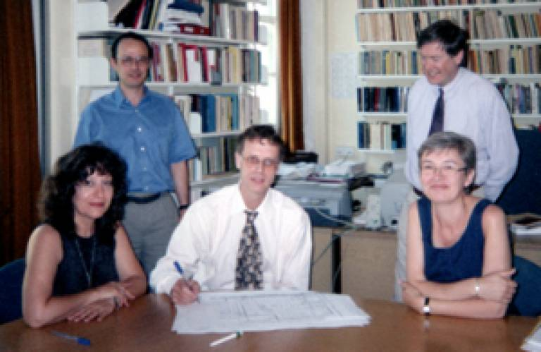 SSEES staff sign off the building plans