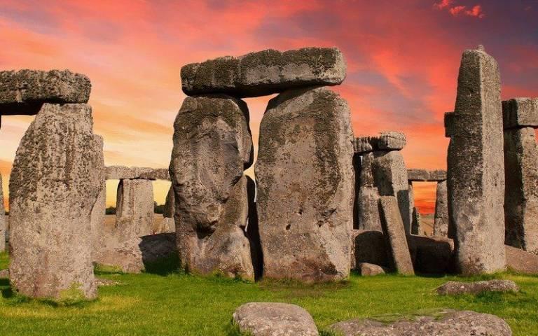 Stonehenge on Salisbury Plain at sunrise