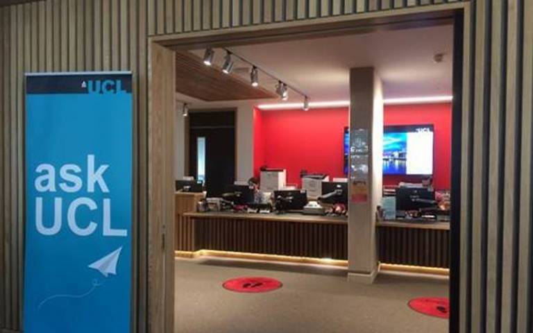 Student Enquiries hub in the Student Centre