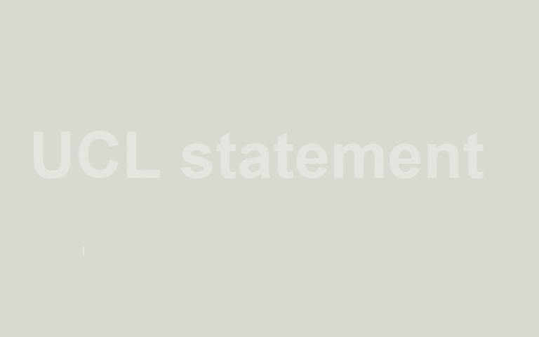 UCL statement holding pic