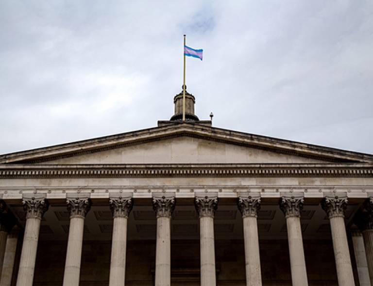 Transgender pride flag flying again on UCL