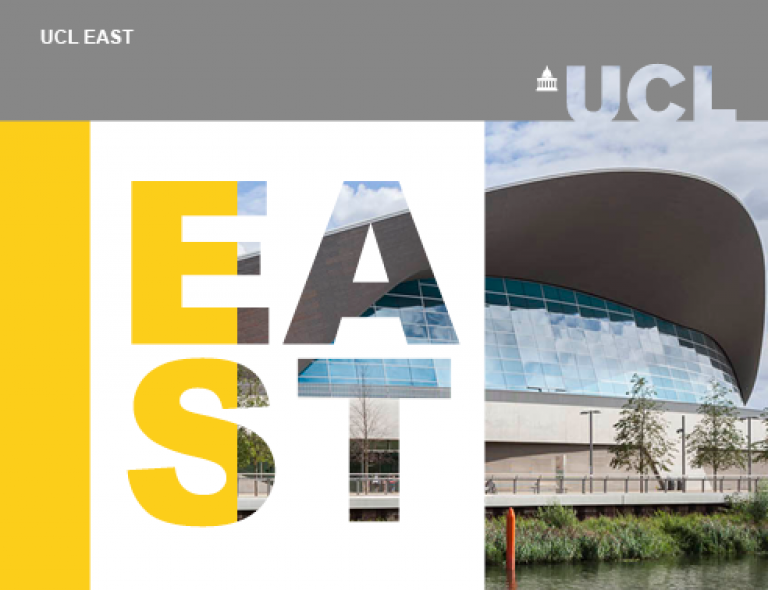 UCL East visual identity