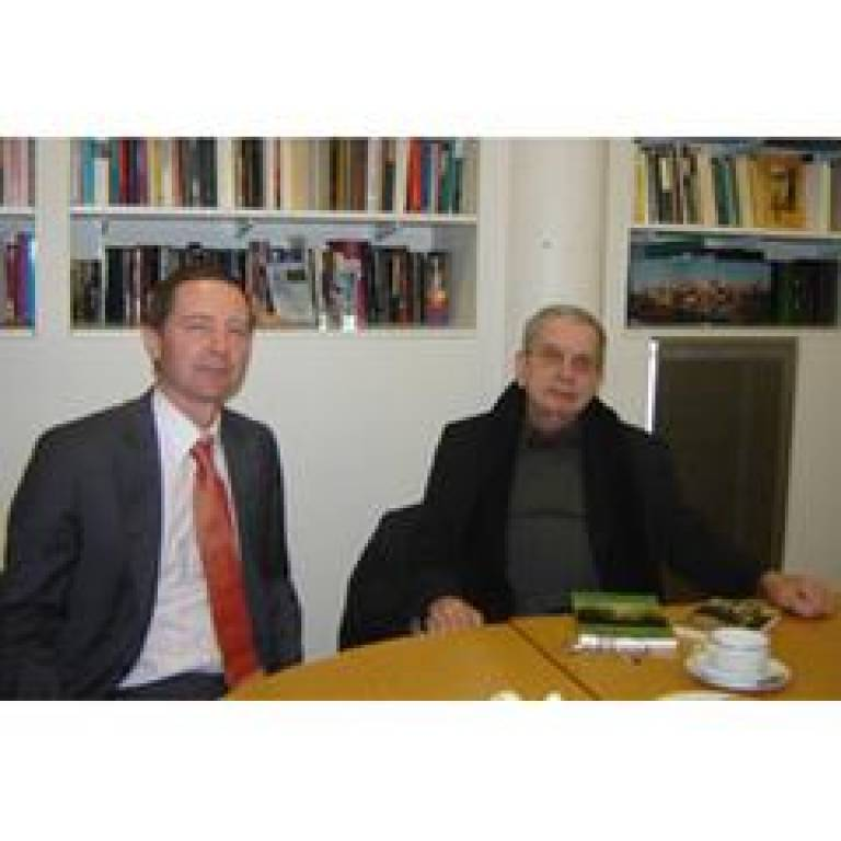 Tomas Venclova (right) and Dr Robin Aizlewood