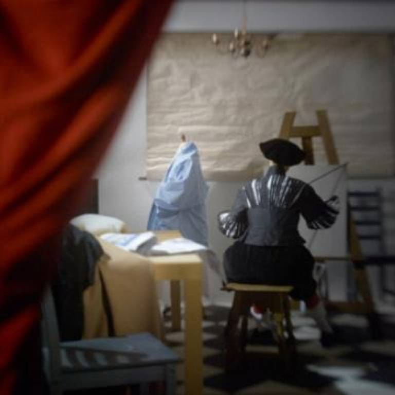 'The Art of Painting' as seen through a camera obscura