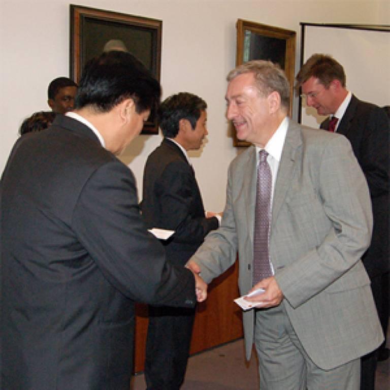 Michael Worton with Vietnamese delegation