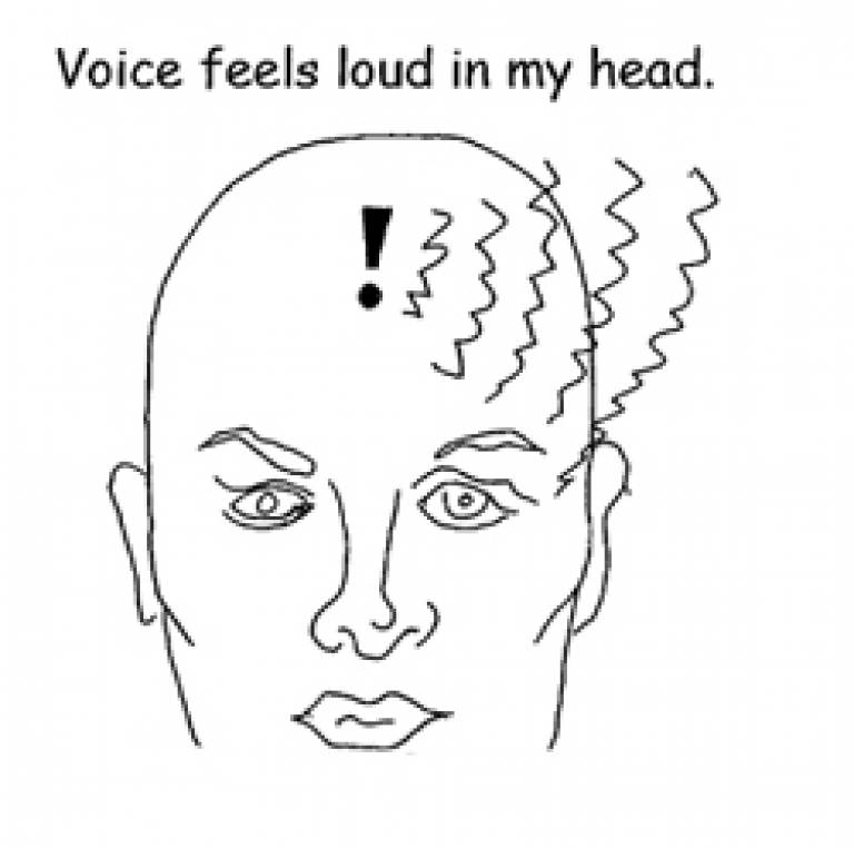voice feels loud