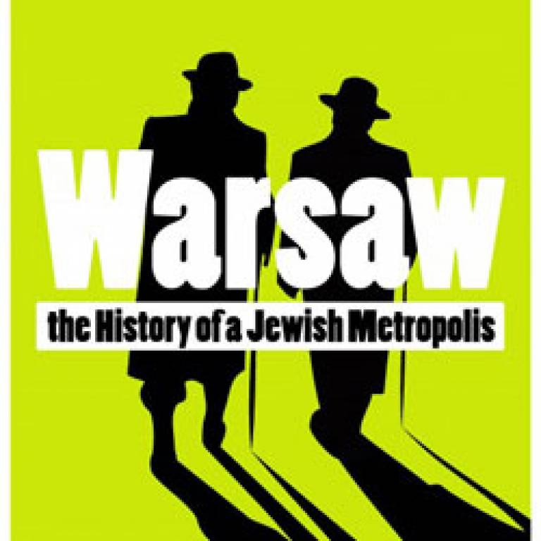 UCL Warsaw - the History of a Jewish Metropolis conference poster