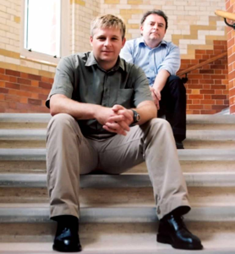 Professor Gareth Williams (top) and Dr Kai Stoeber