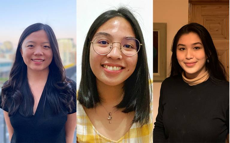 Glenda Xu, Lia Bote and Yvette Homerlein, UCL student winners of the 2020 Schmidt Futures competition