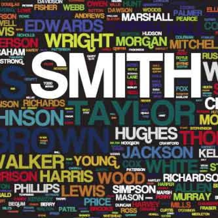 Wordle of British surnames