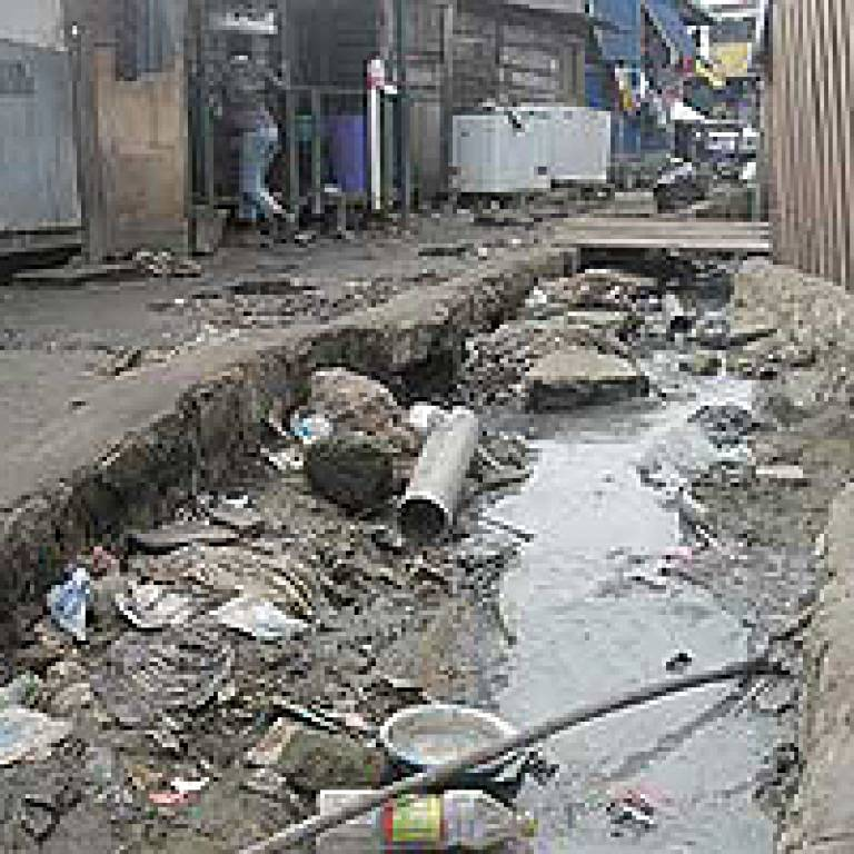 Some of the sewerage conditions in the city slums of Ghana