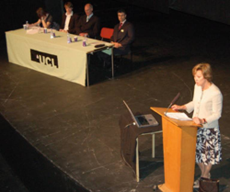 Professor Yip and panel