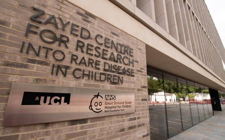 The Zayed Centre for Research is situated next to UCL and GOSH