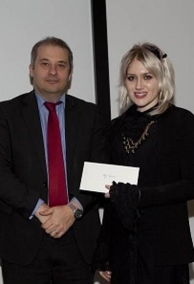 ION director Professor Michael Hanna with PhD poster prize winner Sheena Waters-Metenier