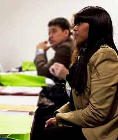 Audience members at the 'Business not as usual' conference