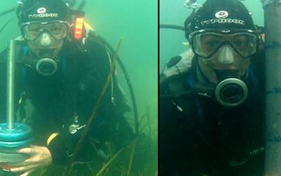 Dr Alix Green deep sea diving down to seagrass meadows