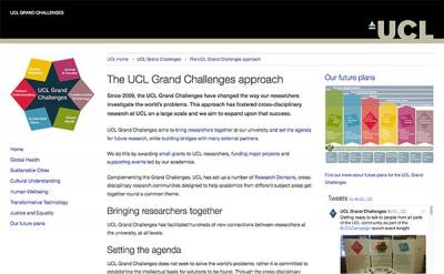 New UCL Grand Challenges website