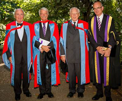 Provost with honorary doctorates