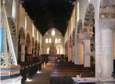 Interior of St Peters Church, the model for the EBS-UCL partnership
