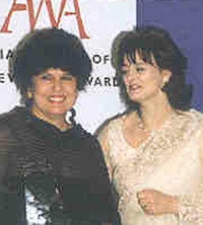 Professor Vargha-Khadem and Mrs Cherie Blair