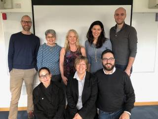 Professor Suellen Walker (front centre) is collaborating with colleagues at University of Toronto to research chronic pain in children