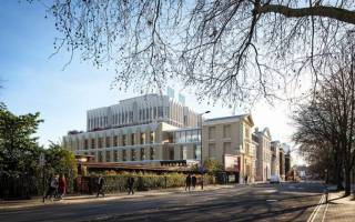 Artist's impression of UCL's new neuroscience facility on Gray's Inn Road