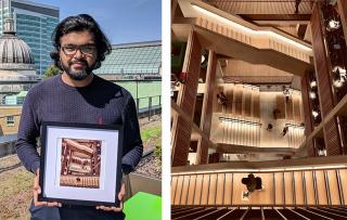 2018-19 #loveUCL Photo of the Year winner Saif holding his winning photo
