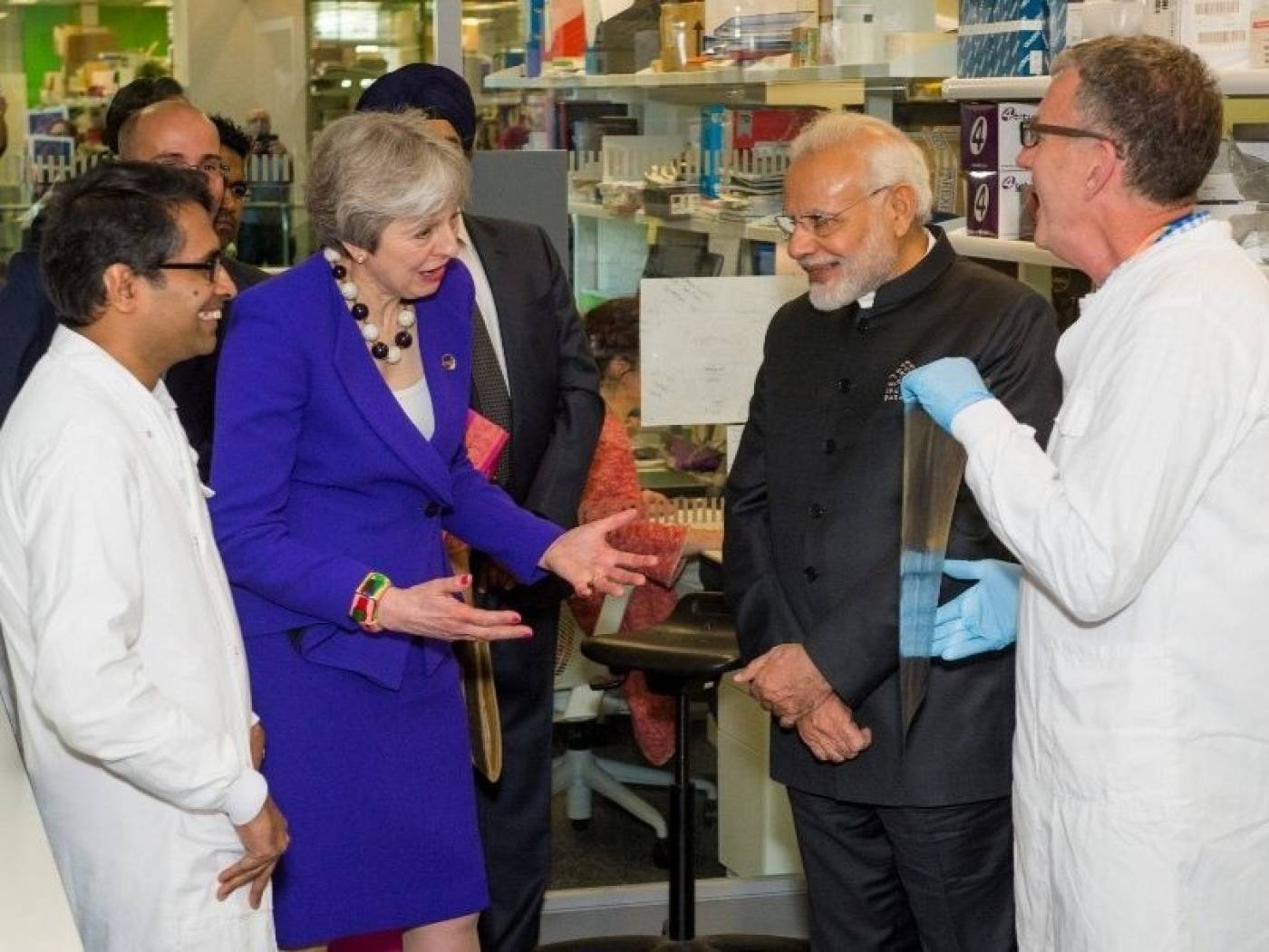 Prime Ministers Theresa May and Nahendra Modi visit the Crick