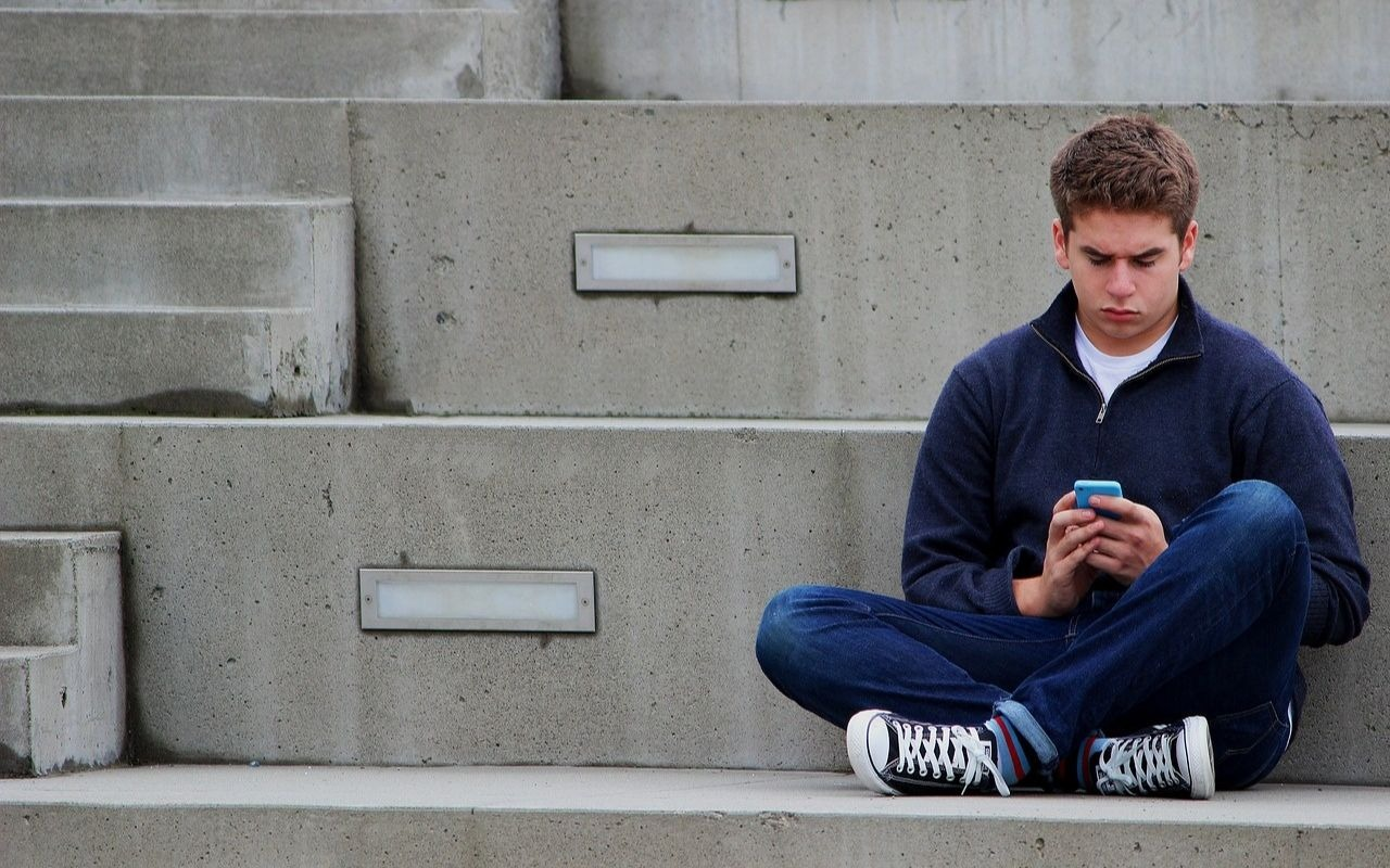 Teenager texting