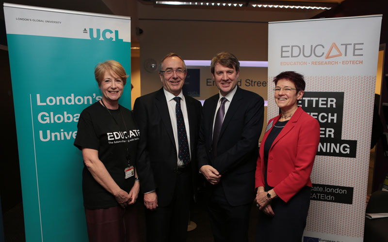 UCL showcases EdTech startups to universities minister