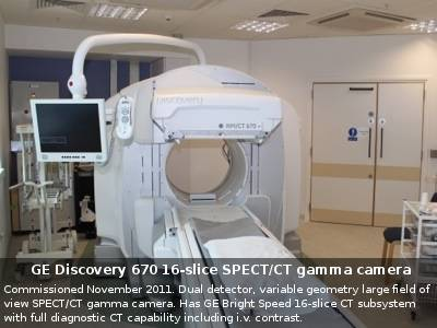 GE Discovery 670 16-slice SPECT/CT gamma camera