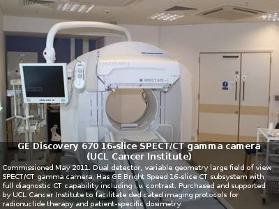 GE Discovery 670 16-slice SPECT/CT gamma camera (UCL)