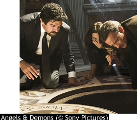 Pierfrancesco Favino, Ayelet Zurer, Tom Hanks and David Pasquesi in Angels & Demons.
