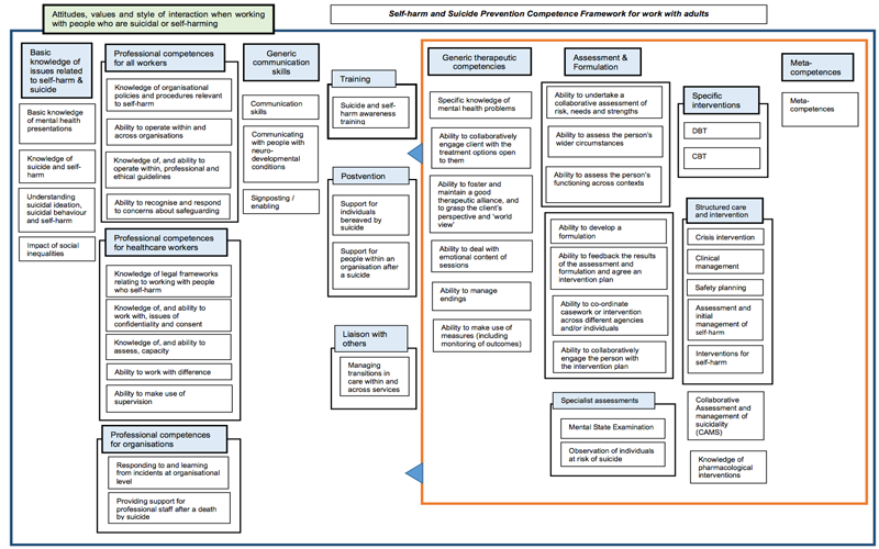 Adult Self Harm Competency Map